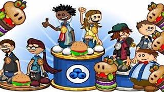 Атака зомби-гамбургеров . Папа Луи мультик игра для детей. Новые игроки. Сырный уровень .
