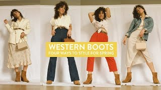 COWBOY BOOT TREND || How to wear cowboy boots!