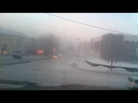 Анжеро Судженск 9 утра небольшой туман