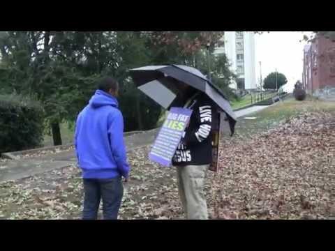 University of Kentucky | Open Air Preaching - Fall 2014 | Kerrigan Skelly