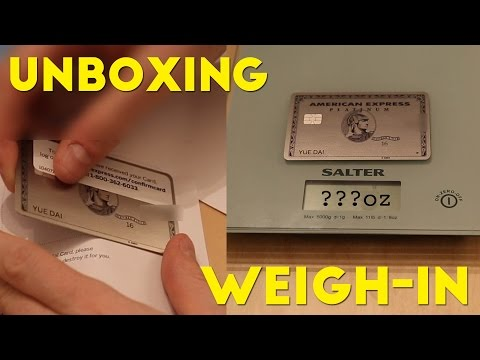 Amex Platinum METAL CARD Unboxing and WEIGH-IN!