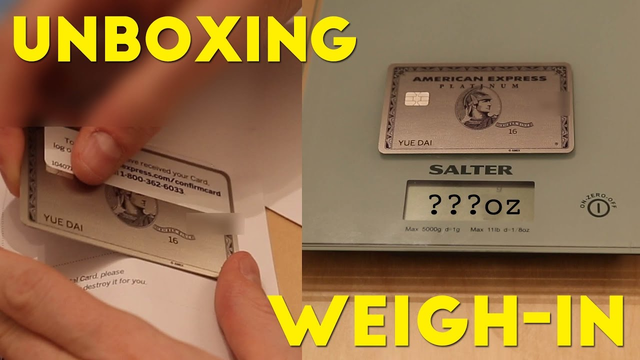 Amex Platinum METAL CARD Unboxing and WEIGH-IN! - YouTube