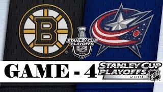 Boston Bruins Vs Columbus Blue Jackets  Second Round  Game 4  Stanley Cup 2019  Обзор матча