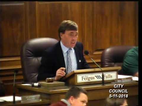 Fergus Falls MN City Council Meeting 11-5-2018
