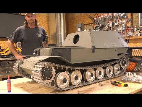 "FERDINAND ELEFANT: 1/6 Scale METAL TANK BUILD ""Tanks For 10 Years"" PT 7   RC ADVENTURES"