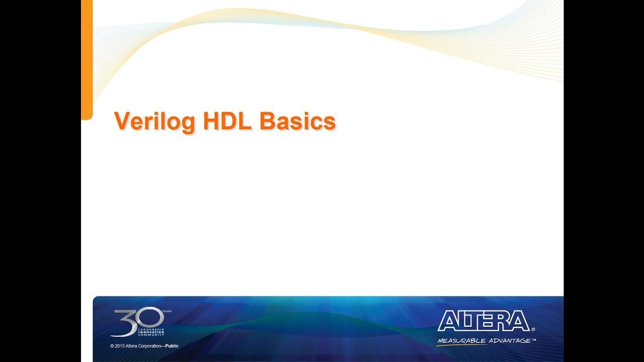 Verilog HDL Basics