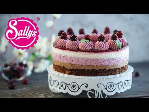 Brombeer-Schokoladen-Torte / double chocolate naked Cake / Sallys Welt