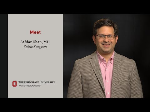 Meet Safdar N. Khan, MD, chief of Orthopedic Spine Surgery