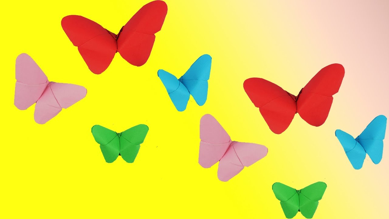 How To Make Beautiful Paper Butterfly - Easy Craft Tcraft - YouTube