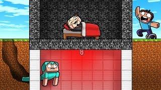 Minecraft - SECURE HOUSE SNEAK IN! (NOOB vs PRO vs HACKER)