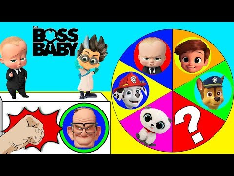 Boss Baby Movie Spin the Wheel Game with Paw Patrol Toys | Ellie Sparkles
