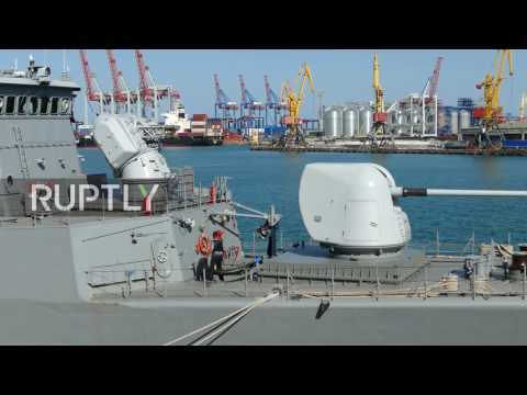 Ukraine: Turkish naval ships arrive in Odessa for 'Sea Breeze' drills