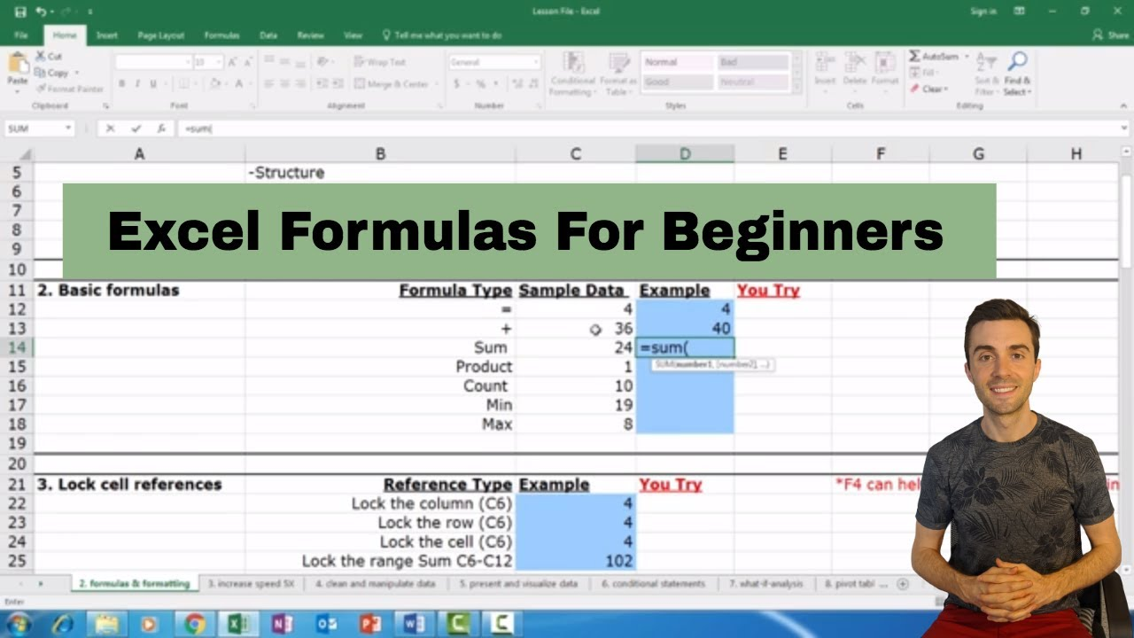 Most Used Excel Formulas For Beginners