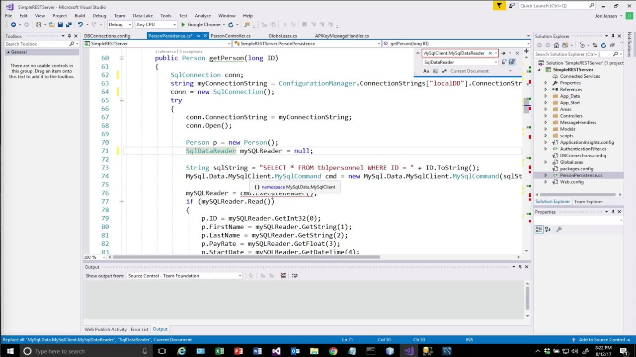 REST with Azure, SQL Server, C# and ASP Net WebAPI