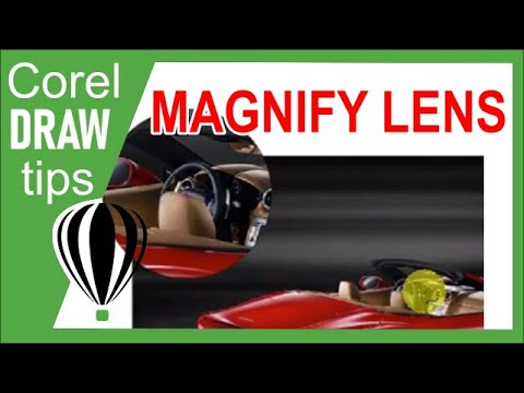 Magnify lens effect in CorelDraw   CorelDrawTips