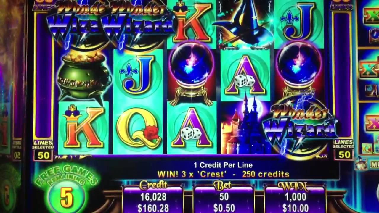 Wonder Wizard slot machine 15 Free Spins Bonus Games - YouTube