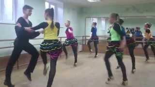 Контрольный  урок бального танца  2015г