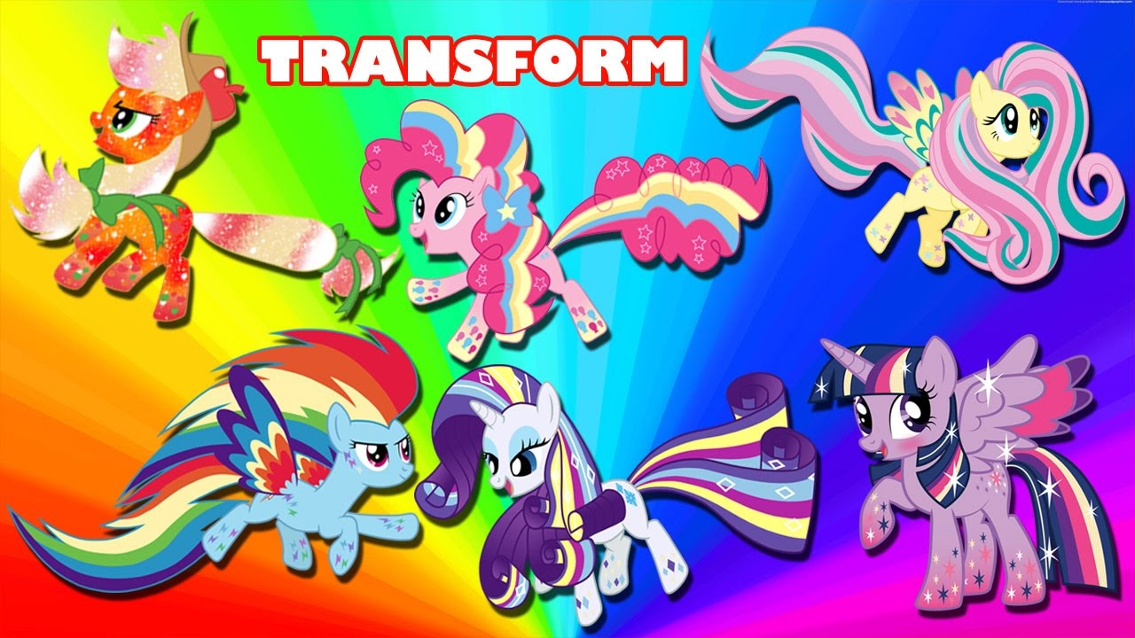 My little pony coloring pages rainbow power - My Little Pony Transforms Into Rainbow Power Mane 6 Coloring Book On My Little Pony Rainbow