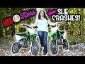 HIS & HERS PIT BIKES | KLX110L | Jumps, Crashes, Wheelies & More!!