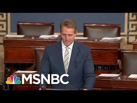 "Senator Jeff Flake: White House Assault On Press ""Unprecedented"" | MSNBC"