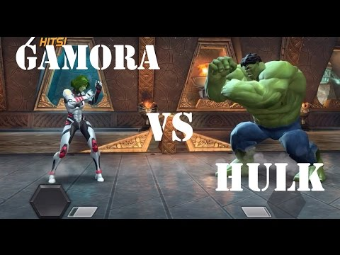 Marvel Contest of Champions - Gamora vs Hulk - Quest 5 - Fight#2 - Act1 - Epic Fight!