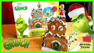 The New Grinch Movie Who-Ville House Christmas Gingerbread Cookie Kit! Max, The Grinch & Cindy Lou!