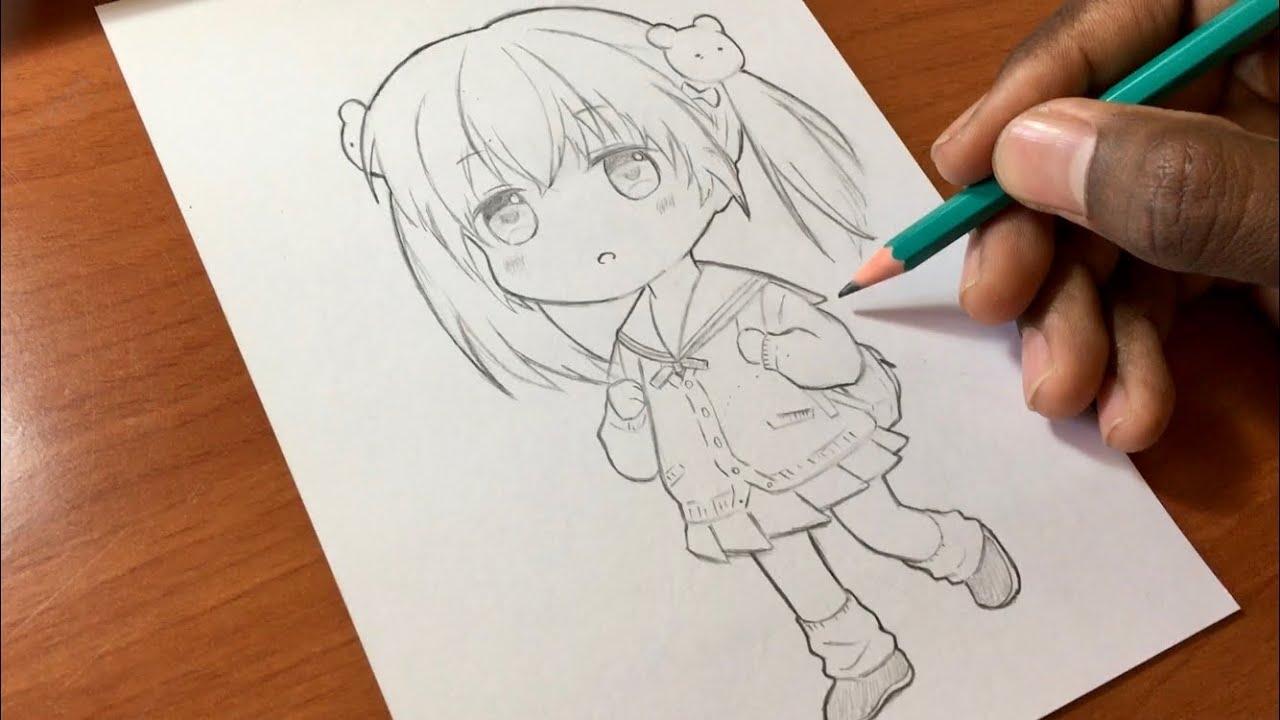 كيف ترسم فتاة أنمي كيوت تعليم الرسم للمبتدئين Youtube