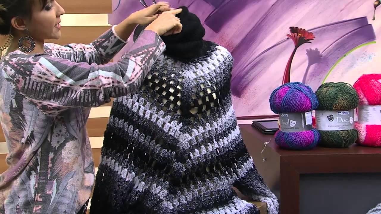 Vestido de croche preto e branco noemi fonseca