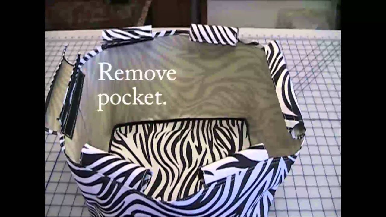 How To Embroider A Collapsible Market Basket
