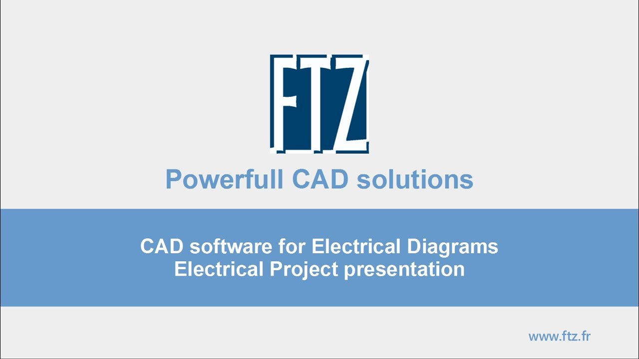 FTZ - CAD Software for Electrical diagram - SchemELECT - YouTube