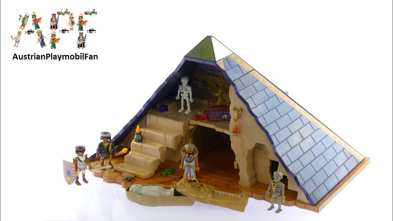 playmobil history 5386 pyramide des pharao playmobil build review youtube. Black Bedroom Furniture Sets. Home Design Ideas