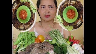 Pretty Girl Cooking Cow intestine With  Recipe New   Village Food Factory