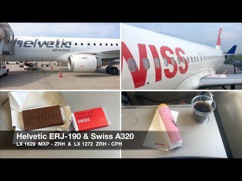TRIP REPORT   Helvetic ERJ-190 & Swiss A320   Milan MXP ✈ Copenhagen via Zürich   Economy Class