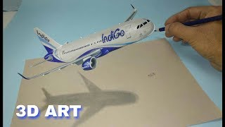 how to draw aeroplane in 3d - Indigo - Drawing Plane