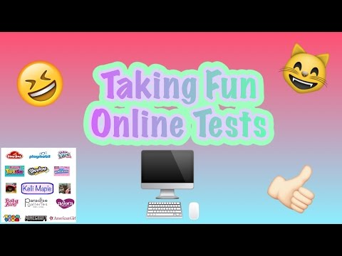 Taking Fun Online Tests