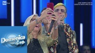 Achille Lauro: il confronto con i giornalisti e il selfie con Mara - Domenica In 10/02/2019