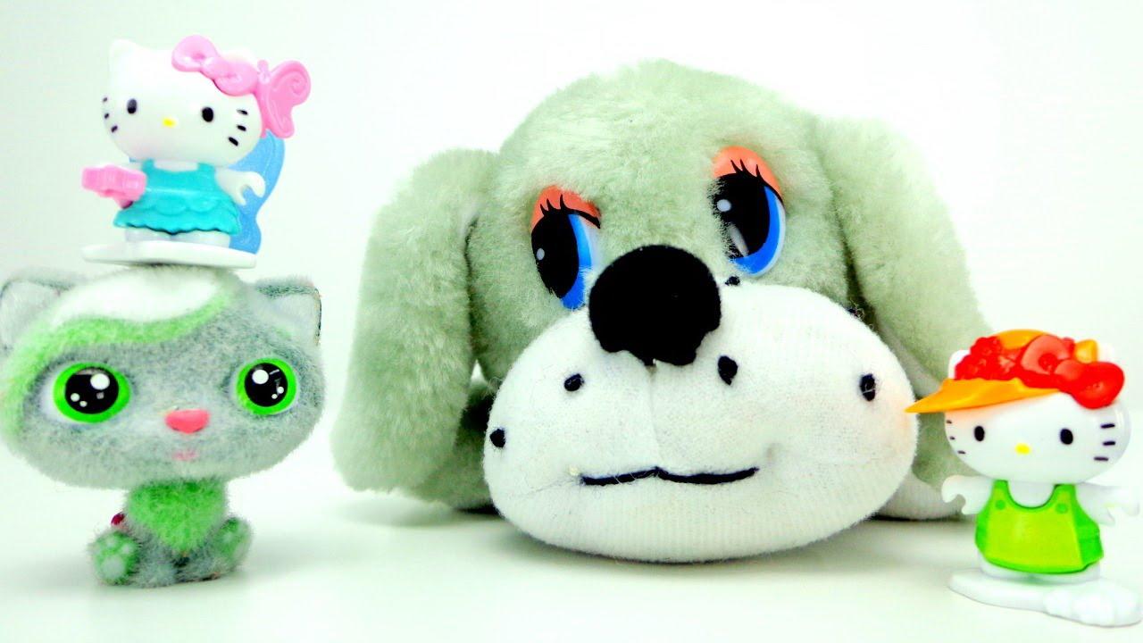 Видео игрушки собаки и кошки