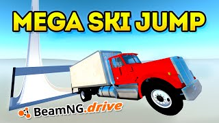 THE MEGA SKI JUMP! (BeamNG Drive Funny Moments)