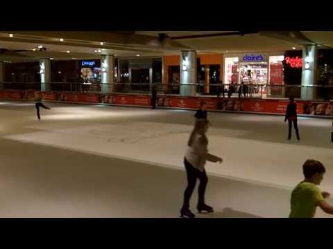 Kids Ice-Skating At The Galleria - Houston, Texas - 12/20/2013.