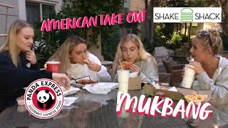 MUKBANG WITH AMERICAN TAKEOUT - BEST THINGS TO DO IN LA | SYD AND ELL