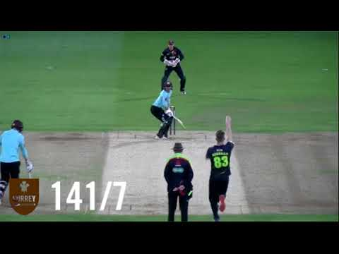 Highlights of Surrey v Kent in the T20 Blast