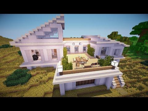 Красивый дом в майнкрафт Строим Вместе! Строительство
