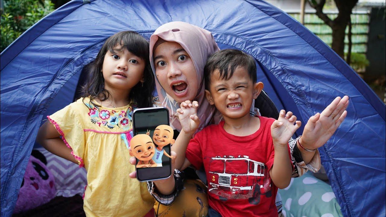IPIN UPIN DI DUNIA NYATA 😱 - Mendadak Camping Di Telpon IPIN UPIN | Salsa and family