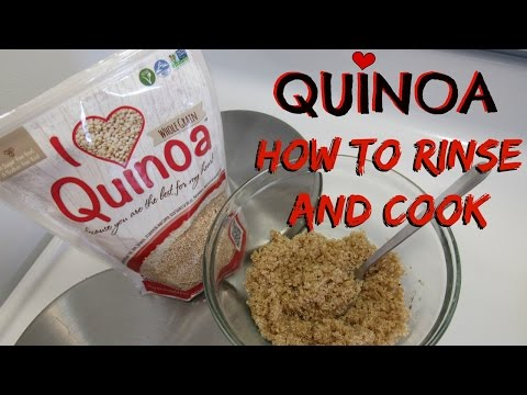 BEGINNERS How to wash and cook Quinoa I Lorentix