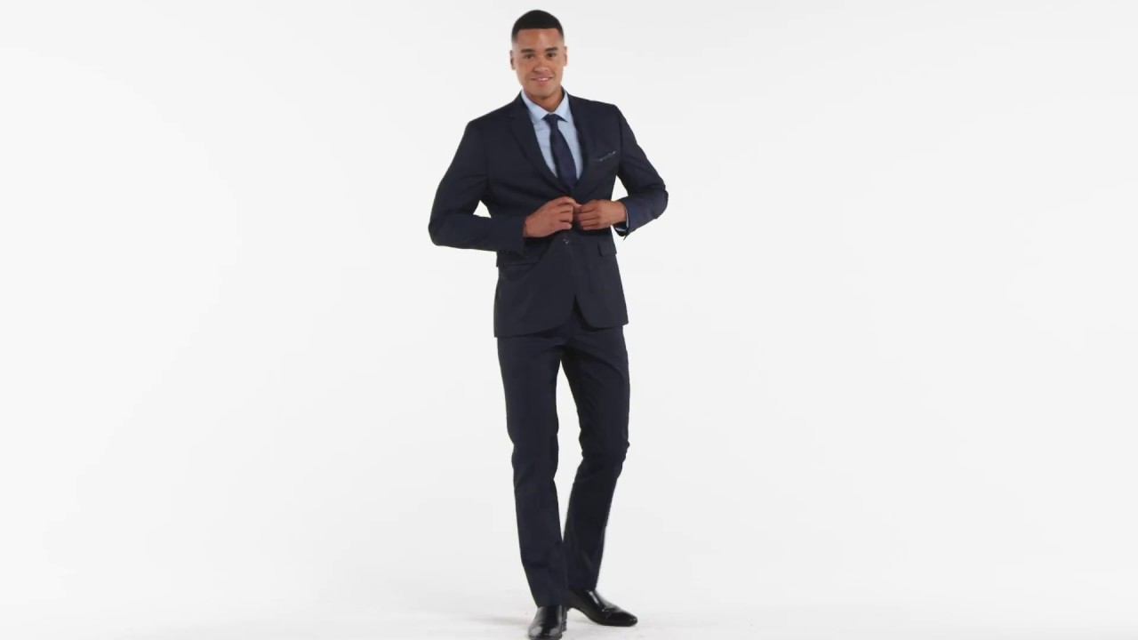 Coupe Ajustée Tailored Fit Twill Suit Veston Coupe Ajustée En Sergé