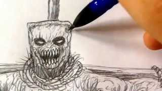 How To Draw Evil Scarecrow