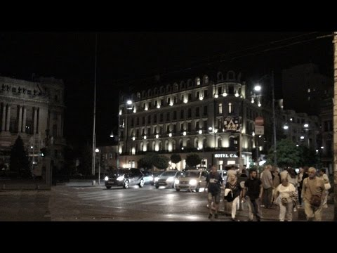 A night walk in Bucharest