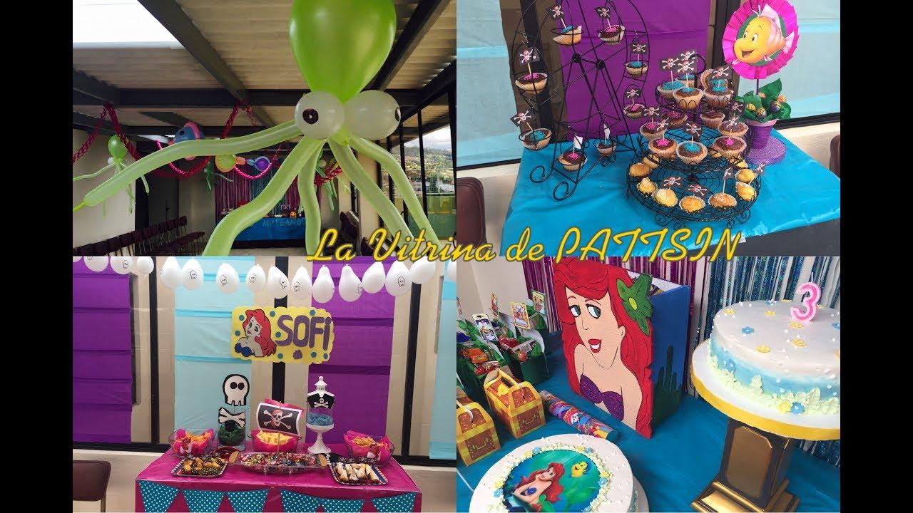 Decoración Fiesta Sirenita Princesas Y Piratas