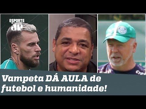 Como recuperar Lucas Lima? Vampeta DÁ AULA de futebol e humanidade!