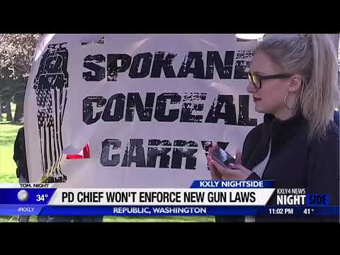 Police chief in eastern Washington says his officers won't enforce new gun laws
